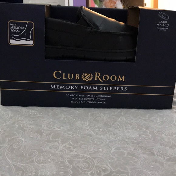 Mens Club Room Slippers Memory Foam